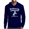 Believe In Yourself (And Unicorns) Mens Hoodie