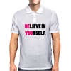 Believe In Yourself Funny Humor Geek Mens Polo