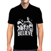 Believe Zombies Aliens Vampires Unicorns UFO Mens Polo