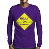 Belly On Board Beer Mens Long Sleeve T-Shirt