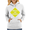 Belly On Board Beer Womens Hoodie