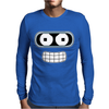 Bender Face Futurama Mens Long Sleeve T-Shirt