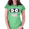 Bender Face Futurama Womens Fitted T-Shirt