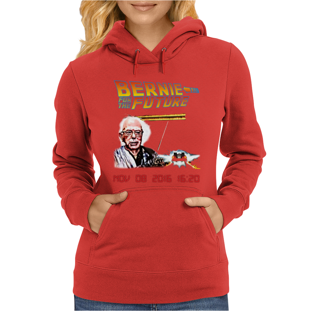 Bernie to the Future Womens Hoodie