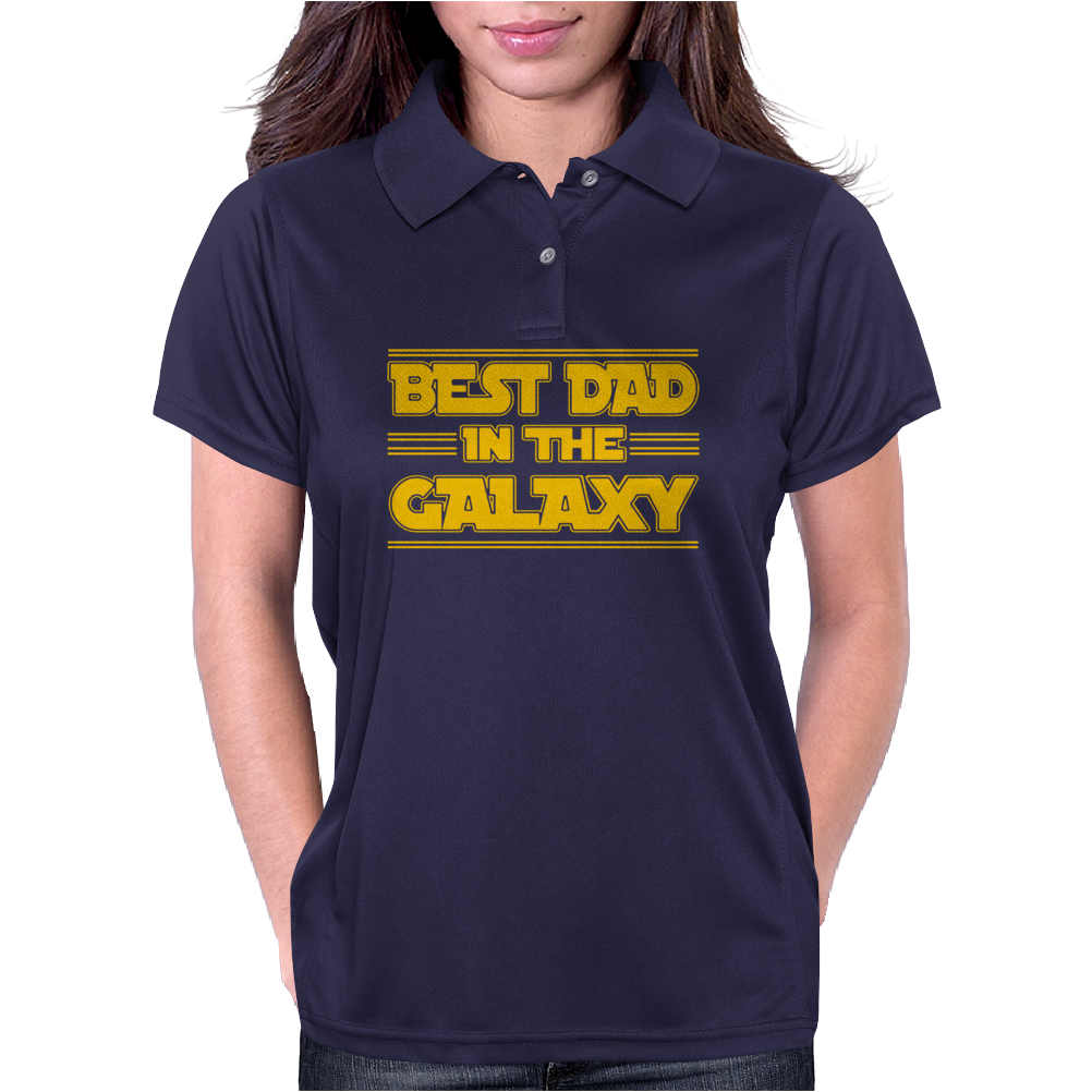 Best Dad in the Galaxy Womens Polo