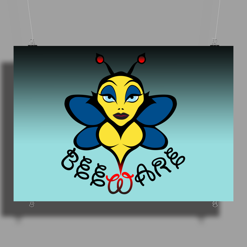 Beware of the Bee. Poster Print (Landscape)