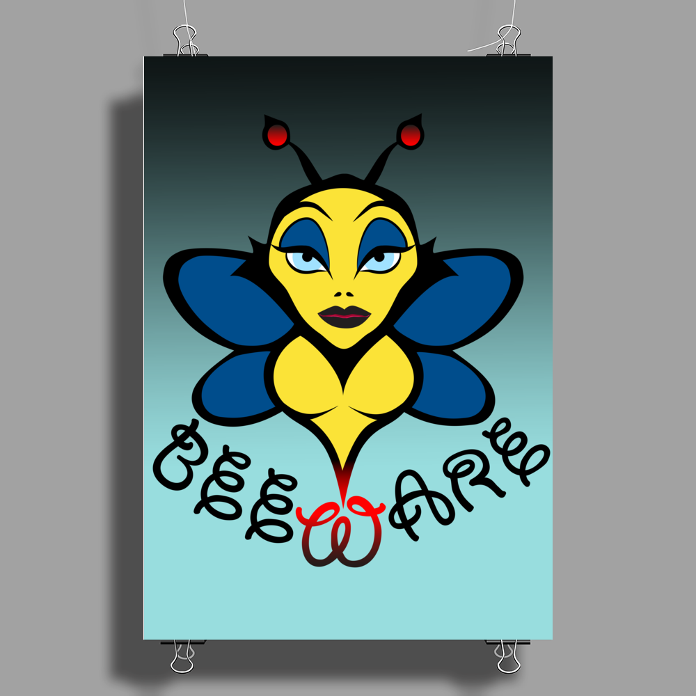 Beware of the Bee. Poster Print (Portrait)
