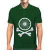 Bicycle Wheel Cross Bones Mens Polo