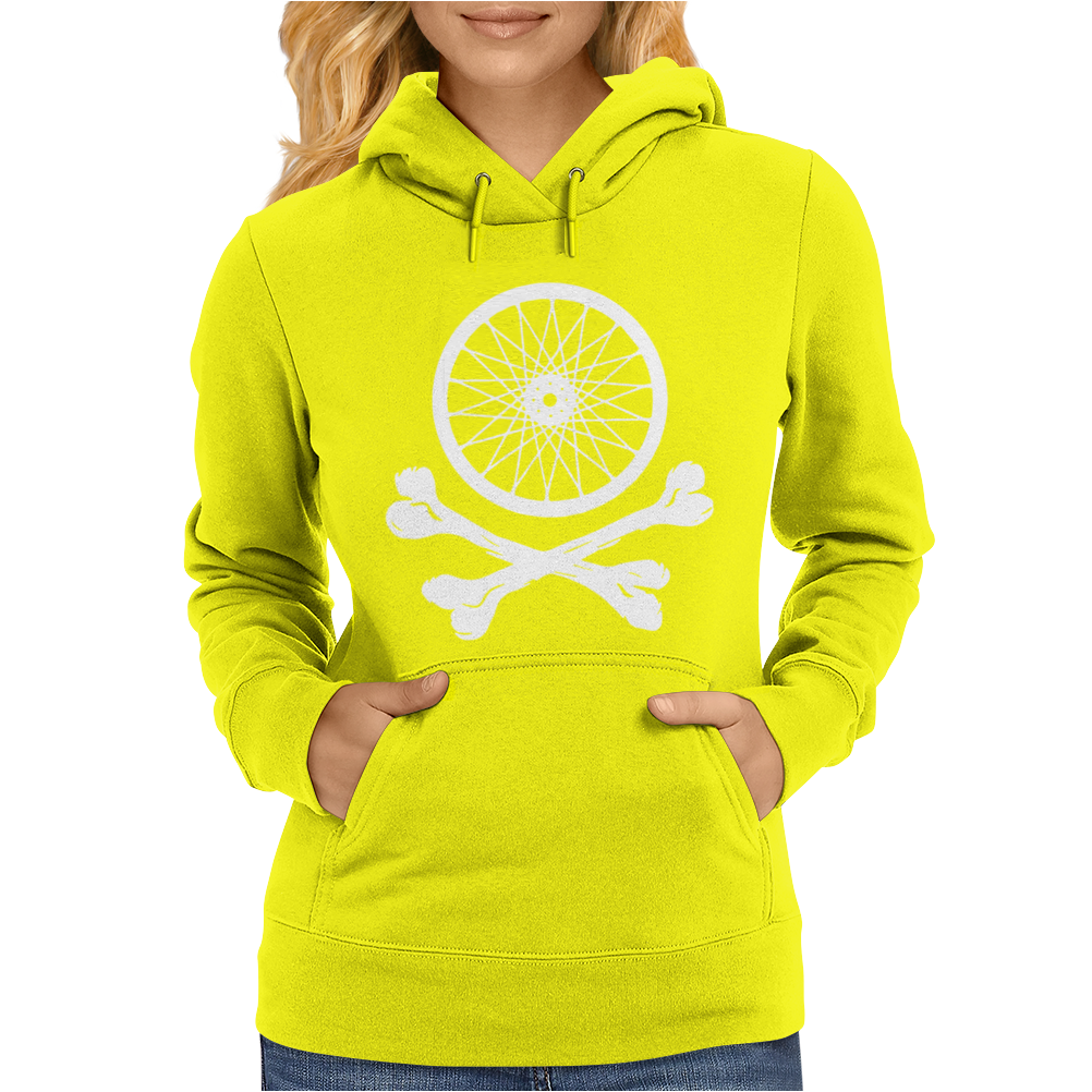Bicycle Wheel Cross Bones Womens Hoodie