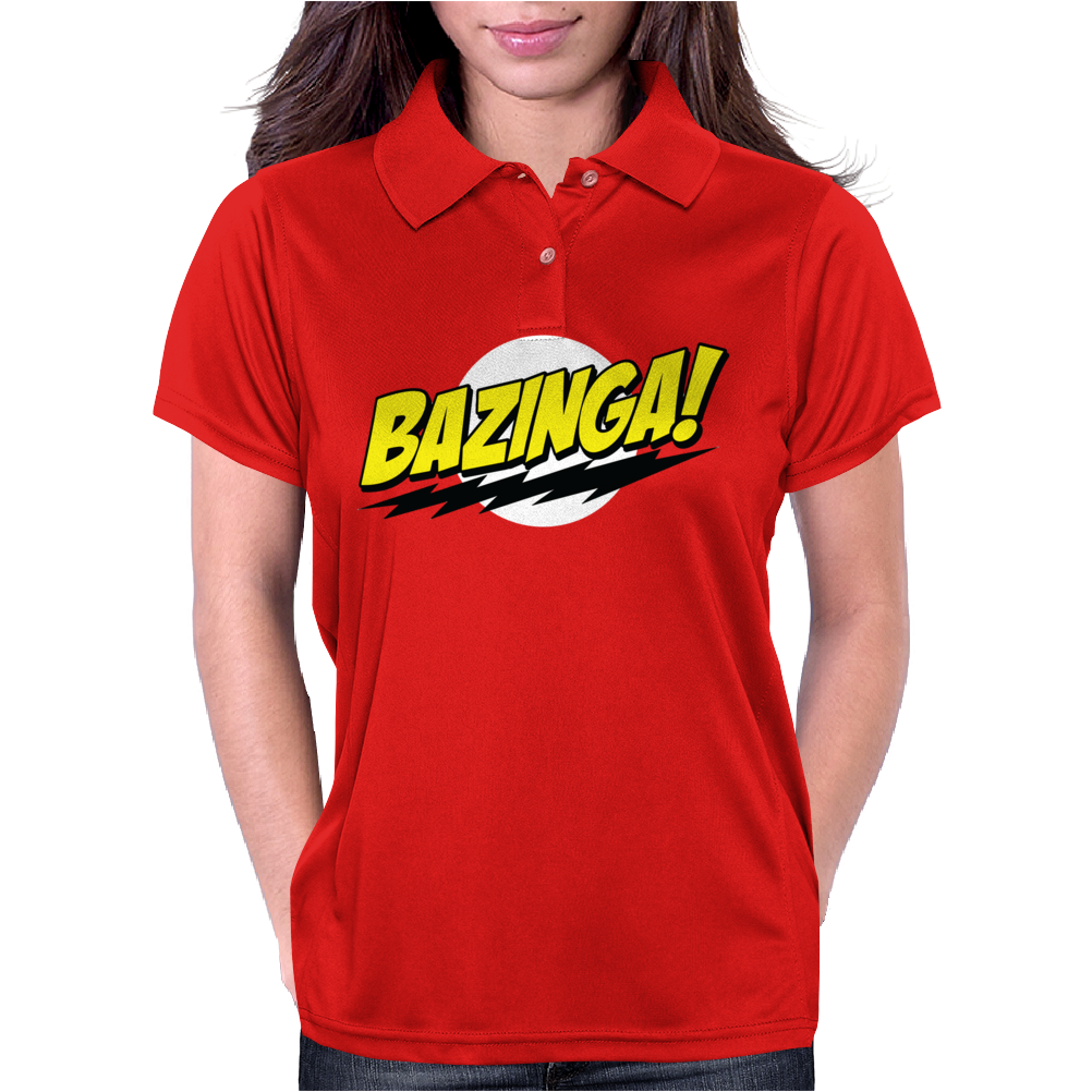 Big Bang Theory Bazinga - Sheldon Cooper Quote - TBBT - BBT - Penny, Leonard, Howard, Raj - BAZINGA! Womens Polo