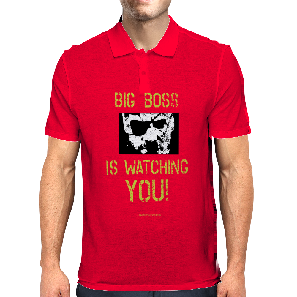 Big Boss is watching you Mens Polo