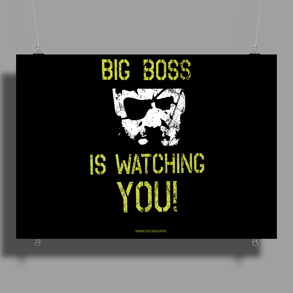Big Boss is watching you Poster Print (Landscape)