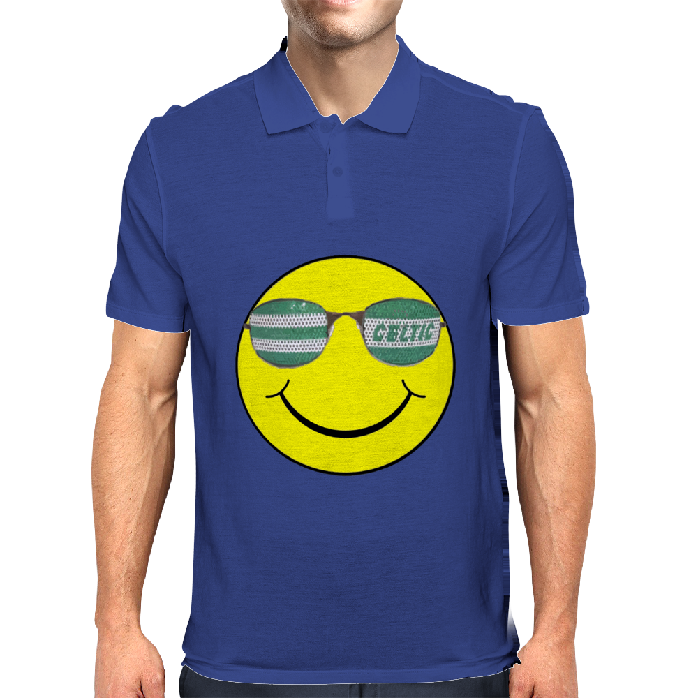 big celtic smiley Mens Polo