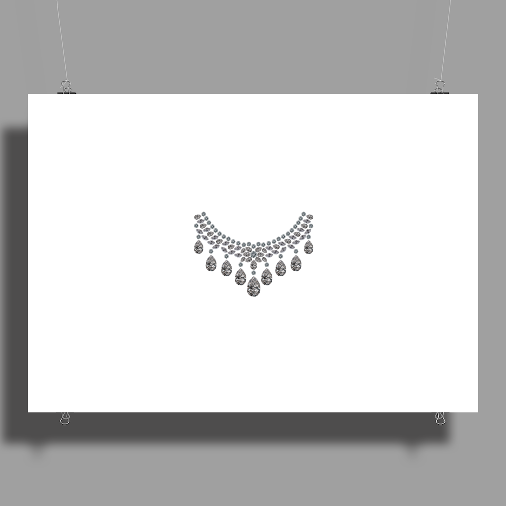 Big Diamonds Necklace Poster Print (Landscape)