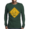 Big Foot Xing Big Foot Crossing Sasquatch Mens Long Sleeve T-Shirt