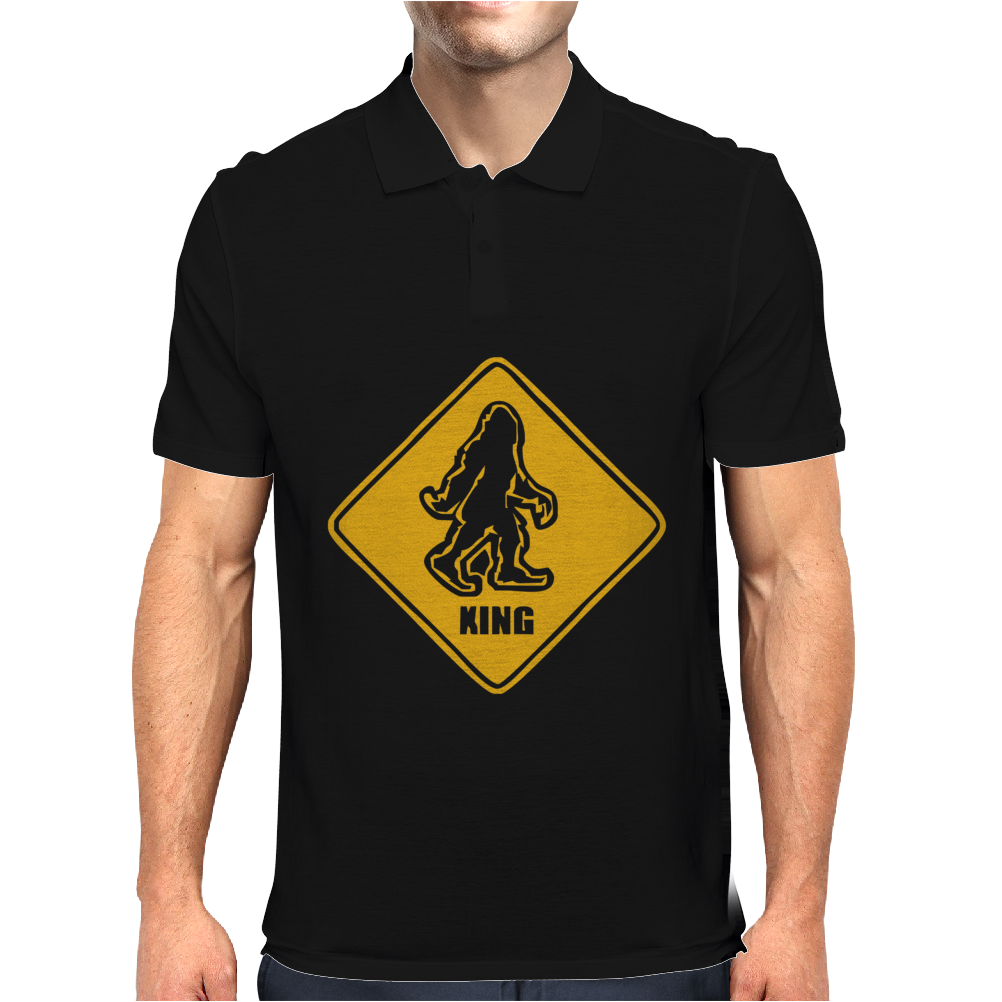 Big Foot Xing Big Foot Crossing Sasquatch Mens Polo