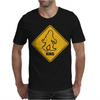 Big Foot Xing Big Foot Crossing Sasquatch Mens T-Shirt