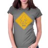 Big Foot Xing Big Foot Crossing Sasquatch Womens Fitted T-Shirt