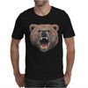 Big In Your Face Grizzly Bear Bite Mens T-Shirt
