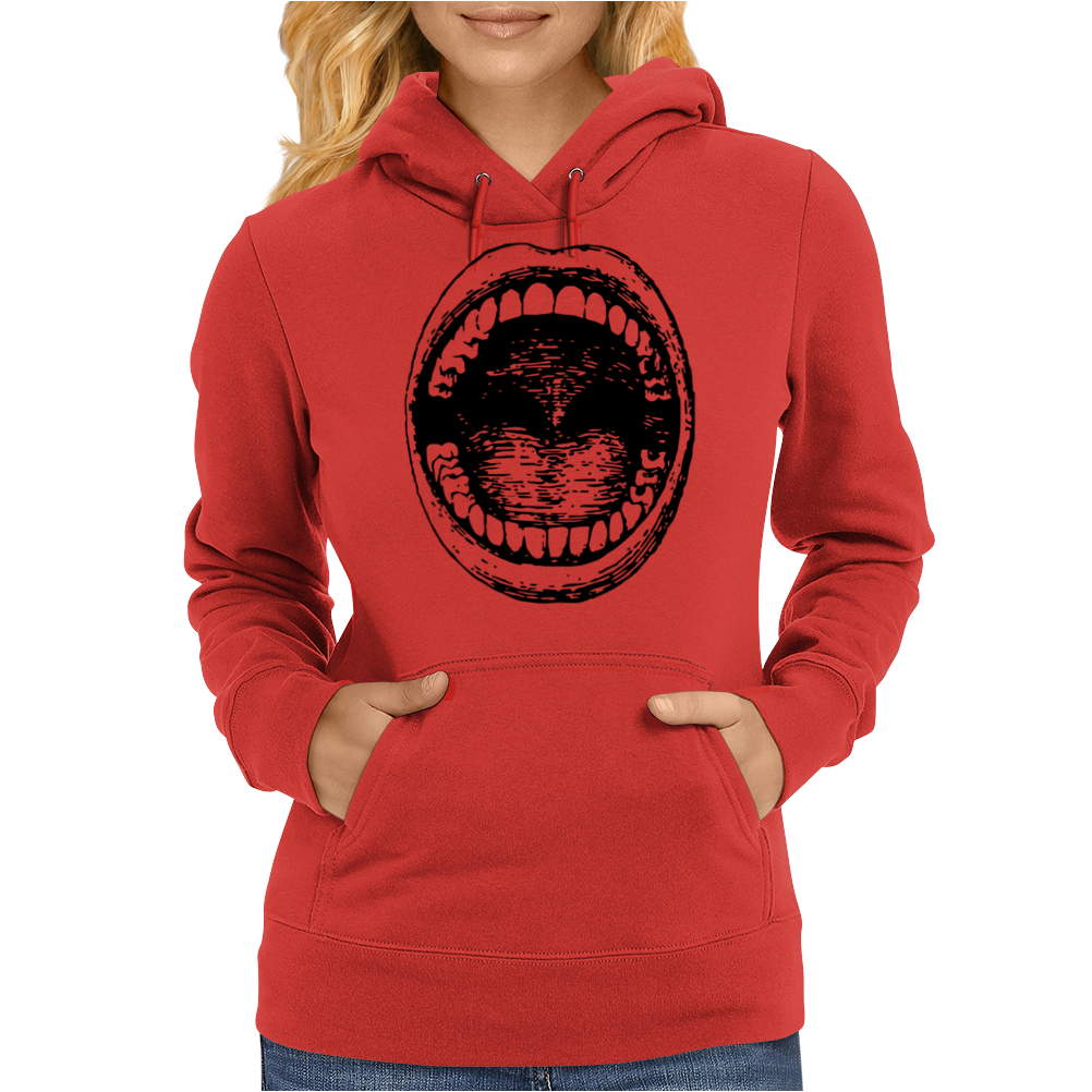 Big mouth Womens Hoodie