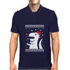 Big Trex Santa Ugly Christmas Mens Polo