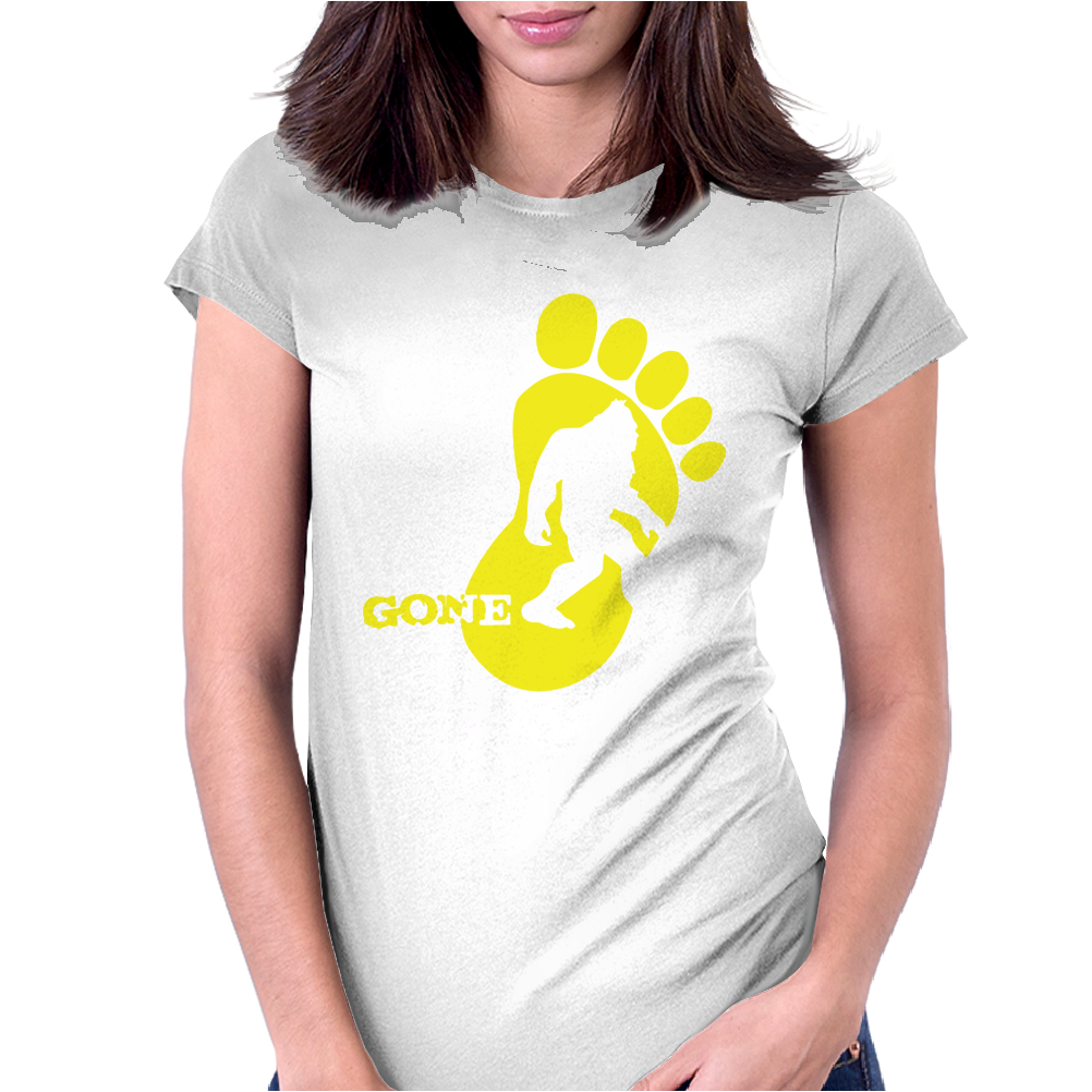 Bigfoot Gone Womens Fitted T-Shirt