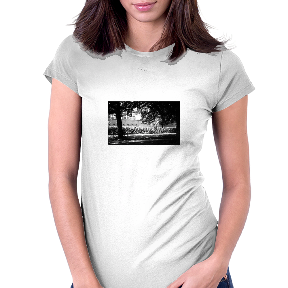 Bike in Amsterdam Womens Fitted T-Shirt