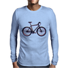 bike mountain bike bicycle retro colors Mens Long Sleeve T-Shirt