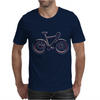 bike mountain bike bicycle retro colors Mens T-Shirt