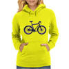 bike mountain bike bicycle retro colors Womens Hoodie