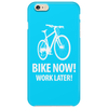 bike now! work later! bicycle tour Phone Case