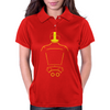 Biker Dude Back Womens Polo
