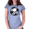 Biker Motorcycle Skull Ride Womens Fitted T-Shirt