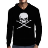 Biker Pirate Skull Bones Swords Mens Hoodie