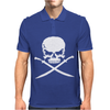 Biker Pirate Skull Bones Swords Mens Polo