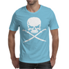 Biker Pirate Skull Bones Swords Mens T-Shirt