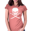 Biker Pirate Skull Bones Swords Womens Fitted T-Shirt