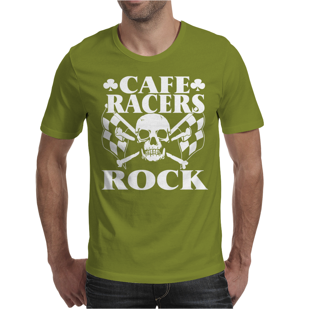 Biker T-Shirt Cafe Racers Ton Up Boys Rockers Greasers Rock Mens T-Shirt