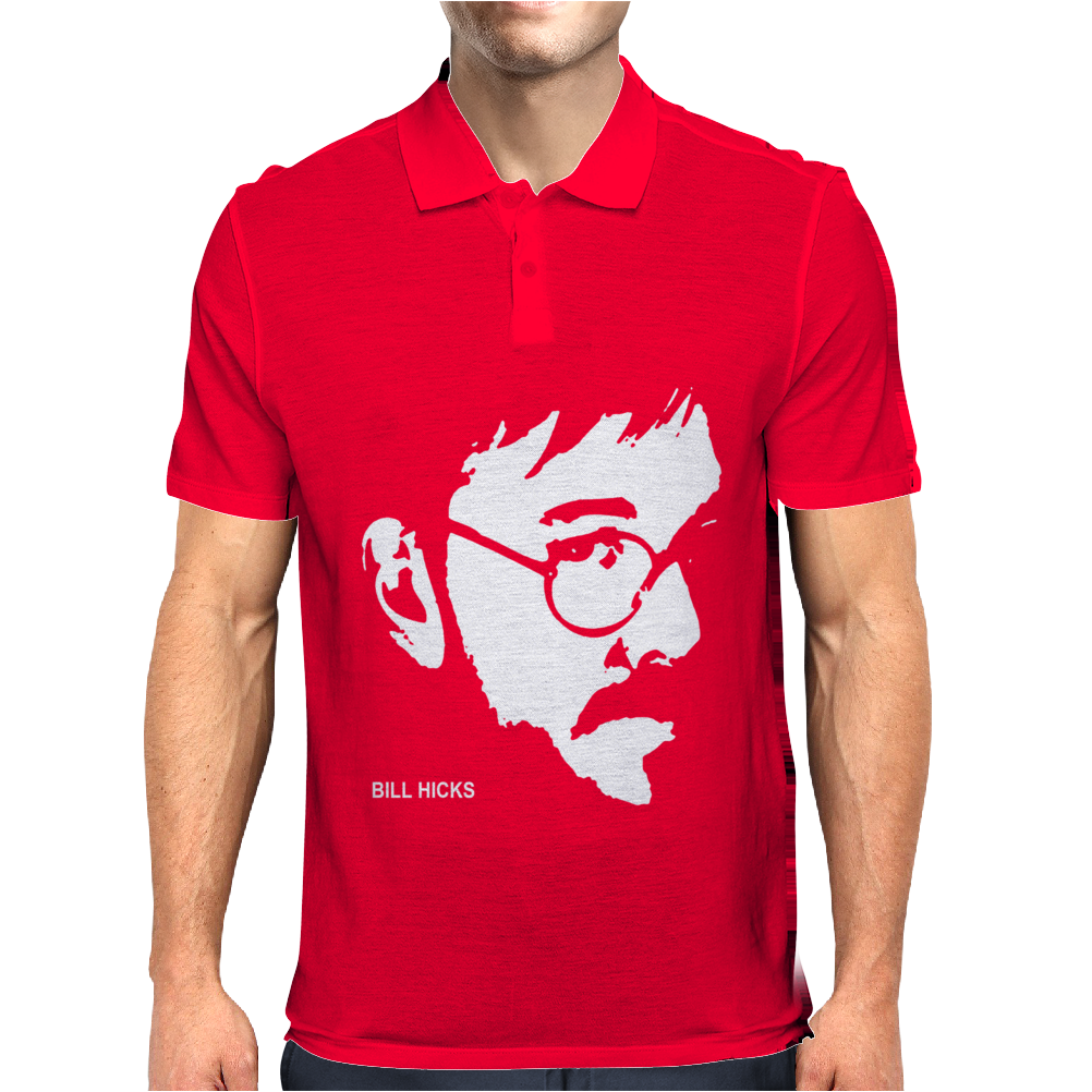 Bill Hicks Tribute Comic Legend Hero Mens Polo
