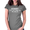 Binary It's As Easy As Womens Fitted T-Shirt