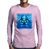Biohazard Blue Mens Long Sleeve T-Shirt