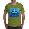 Biohazard Blue Mens T-Shirt