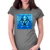 Biohazard Blue Womens Fitted T-Shirt