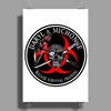 Biohazard Daryl Michonne Walker Survival Training  Ring Patch outlined 3 Poster Print (Portrait)