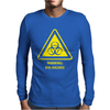 Biohazard Symbol Laboratory Hazard Warning Sign Mens Long Sleeve T-Shirt