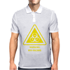 Biohazard Symbol Laboratory Hazard Warning Sign Mens Polo