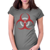 Biohazard Symbol Umbrella Womens Fitted T-Shirt