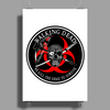 Biohazard Walking Dead  Ring Patch outlined 3 Poster Print (Portrait)