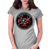 Biohazard Walking Dead  Ring Patch outlined 3 Womens Fitted T-Shirt