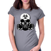 Biohazard Zombie Skull Womens Fitted T-Shirt